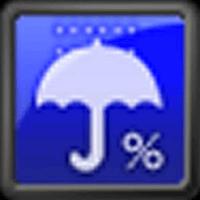 降水確率ステータスバー – シンプルな天気予報