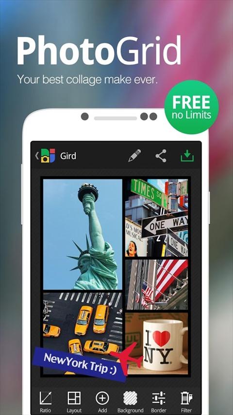 PhotoGrid–写真編集、写真コラージュ、顔認識スタンプ