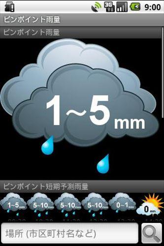 ピンポイント雨量