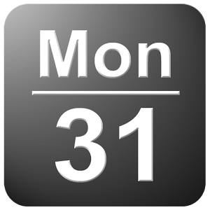 ステータスバーの日付