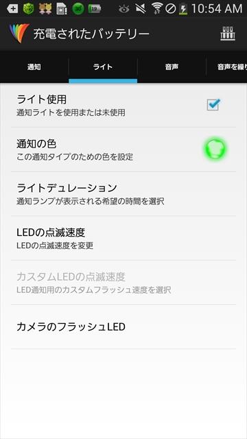 LEDと通知制御
