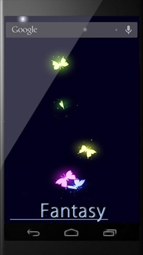 蝶の幻想ライブ壁紙