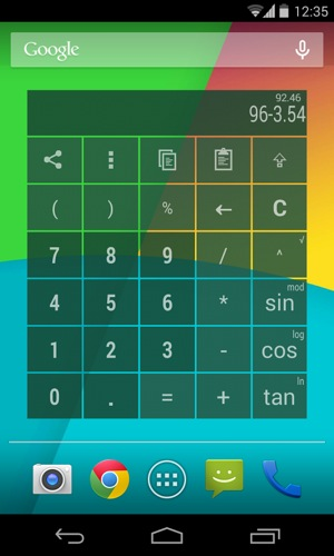 ウィジェット電卓PROカラフルcalculator