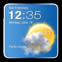デジタル時計天気ウィジェット