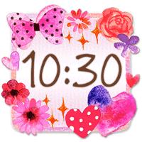 かわいい時計ウィジェット2【無料】