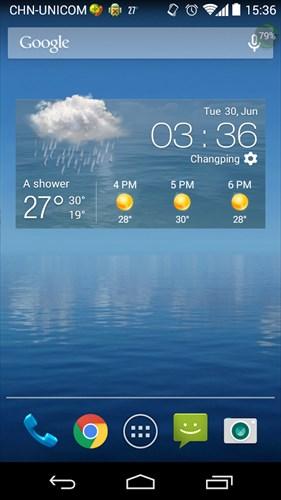 毎日の天気予報ウィジェット