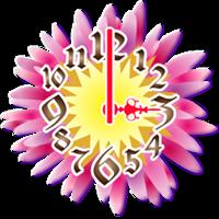 キラキラデザインアナログ時計ウィジェット無料