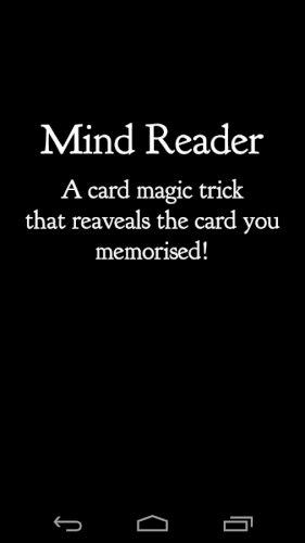 MindReader(CardMagicTrick)