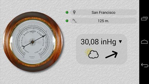 無料の正確な気圧計