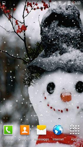 降雪ライブ壁紙