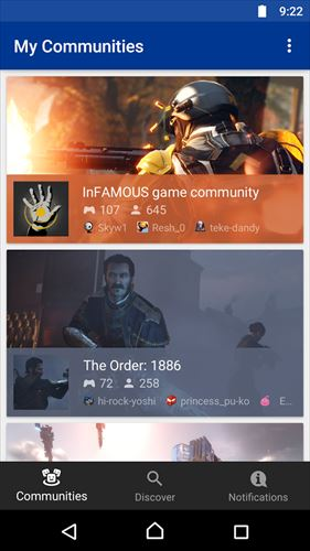 PlayStationCommunities