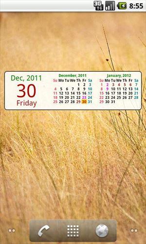 strCalendar(カレンダーウィジェット)