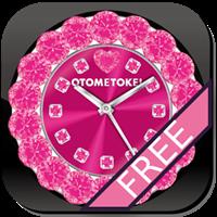 [Free] オトメ時計-CUTE QLOCK Pink