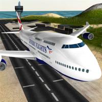 飛行機の3Dフライトシュミレータ