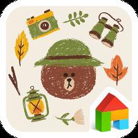 Brown Camping LINEランチャーテーマ