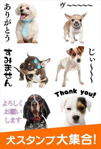 犬スタンプ無料