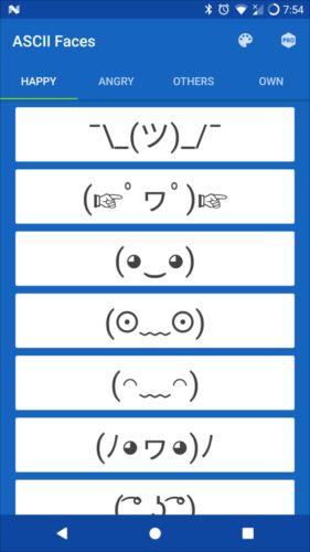ASCIIFaces