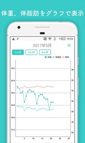 カレンダーで体重管理と食事記録-ハミングダイエットアプリ簡単レコーディング