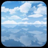 天空の塩湖ライブ壁紙