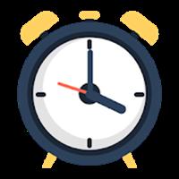 話す目覚まし時計 – 定刻通知