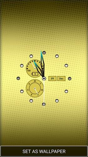 時計アプリホーム画面