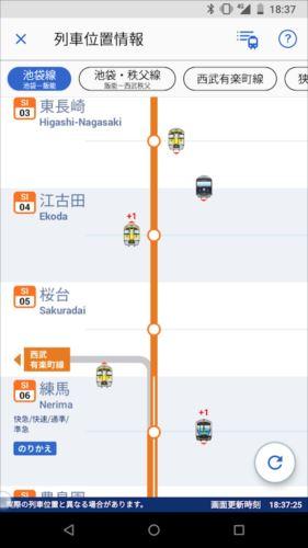 西武線アプリ