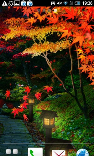 錦秋の坂道