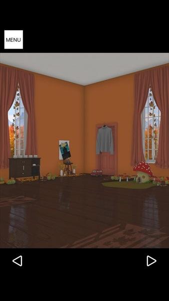 脱出ゲームAutumn紅葉とキノコとリスの家