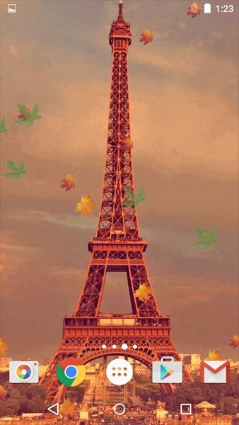 パリの秋ライブ壁紙