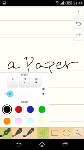 無制限の手書きメモ・裏紙–aPaper