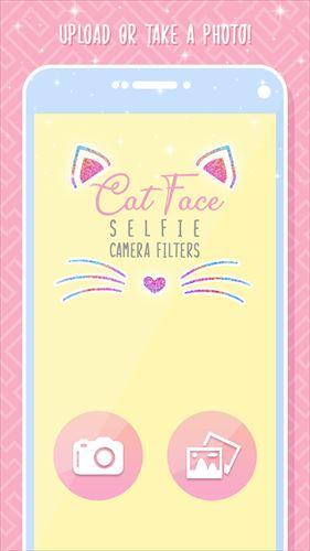 猫の顔のカメラのフィルタ写真