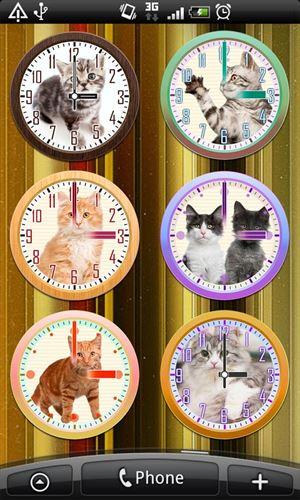 猫アナログ時計ウィジェット