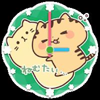 関西弁にゃんこ かわいいアナログ時計ウィジェット