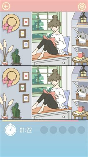 間違い探し–猫が住む家