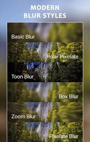 写真をぼかすアプリ–ブラーイメージの背景