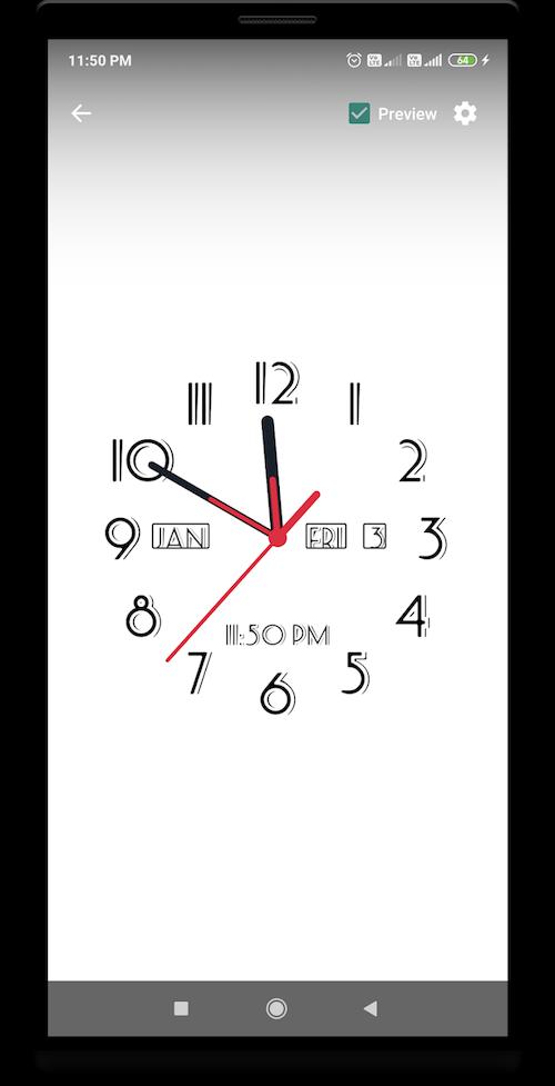 アナログ時計ライブ壁紙