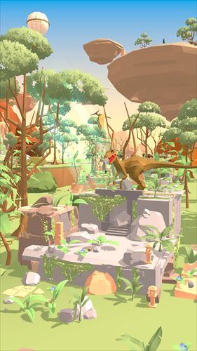 DinoIsland-恐竜と絶滅動物たちの楽園-癒しの箱庭放置系育成ゲーム。