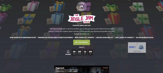 毎日ワクワク!30ドルで20日まで1日1本ずつゲームが手に入る「Yogcast Jingle Jam 2019」が開催